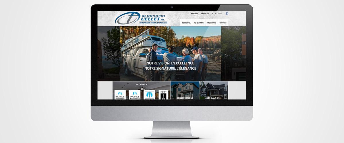 Site Web réalisé pour Construction T.Ouellet