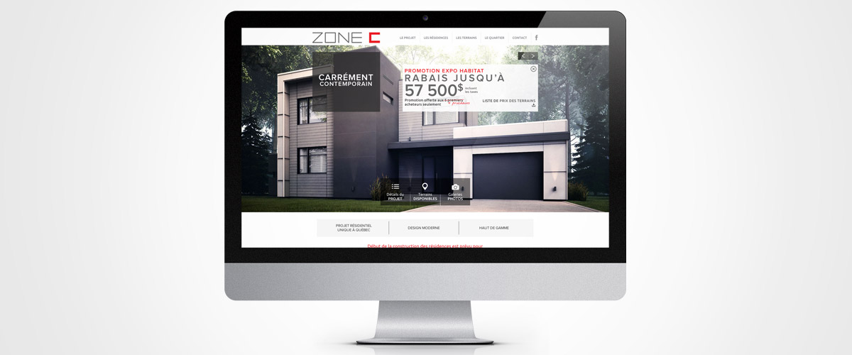 Réalisation site Web Zone C